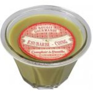 Bougie gourmande Rhubarbe-Coing Comptoir de Famille