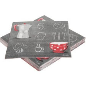 Serviettes de table Rouge Ardoise
