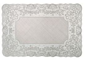 Set de table gris clair Dentelle Mathilde M