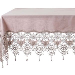 Nappe rose collection Tourmaline 150x150cm Blanc Mariclo