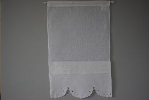 Brise bise broderie anglaise blanc 45x70cm