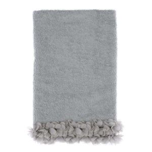 Drap de bain gris collection Dalhia Blanc Mariclo