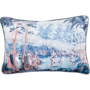 Coussin rectangulaire velours iles marquises mathilde m