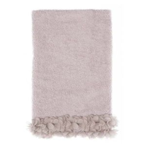 Drap de bain rose collection Dalhia Blanc Mariclo