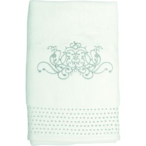 Serviette de toilette Douce Arabesque écru Mathilde M