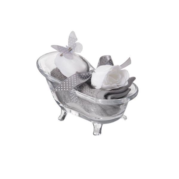 mini baignoire compos e roses de savon mathilde m. Black Bedroom Furniture Sets. Home Design Ideas