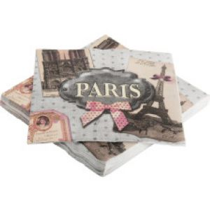Serviette de table Paris poudré