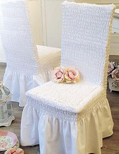Housse de chaise Stretch naturel  Blanc Mariclo