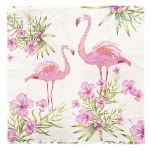 Serviette papier flamand rose  Clayre & Eef
