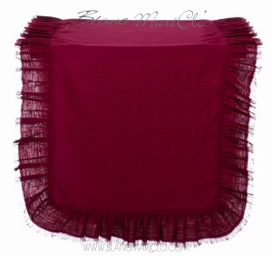 Chemin de table couleur Burgundy 40 x 140 cm